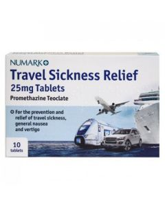 Numark Travel Sickness Tablets 25mg Promethazine 10