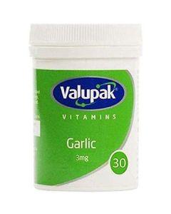 Valupak Garlic 3mg Tablets 30