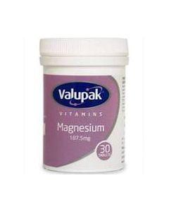 Valupak Magnesium Tablets 30