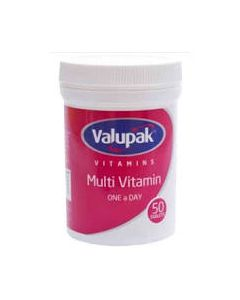 Valupak Multivitamin One-a-day Tablets 50