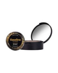 Vaseline Gold Dust Womens Moisturising Gift Set Lip Balm & Compact Mirror Tin