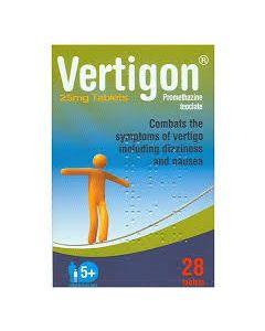 Vertigon 25mg Tablets 28