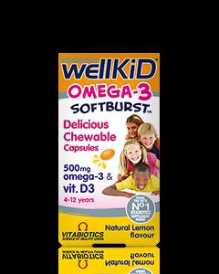 Vitabiotics Wellkid Omega 3 Softburst Capsules 60