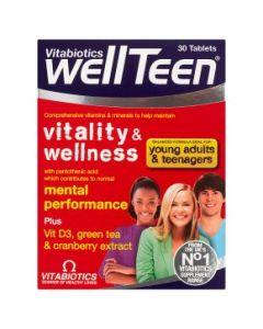 Vitabiotics Wellteen Vitality And Wellness Tablets 30